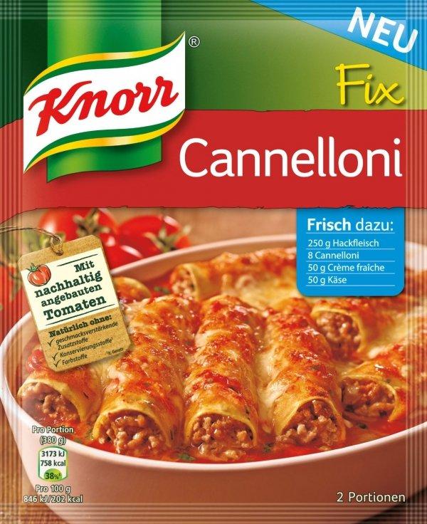 Knorr Fix Cannelloni włoskie danie pomidory zioła