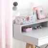 Stylowe biurko dziecięce marki Minko z pojemną nadstawką