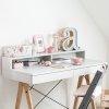 Stylowe biurko dziecięce Minko Basic z nadstawką