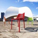 Designerskie krzesło Air z tworzywa Siesta
