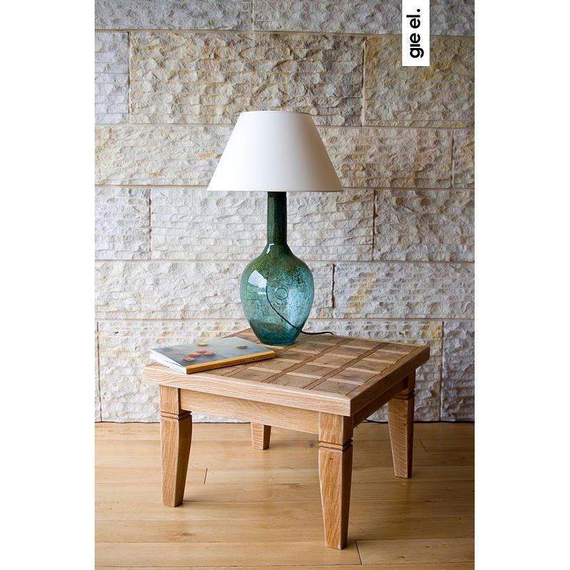 Chłodny Lampka Stołowa szklana turkusowa LGH0071 Gie El IT97