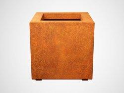 Donica metalowa - Corten CUBO 2 450x450x450