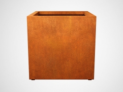 Donica metalowa - Corten CUBO 4 900x900x900