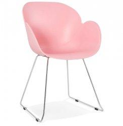 Krzesło Testa białe Kokoon Design różowe