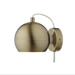 Lampa Ścienna BALL MAGNET WALL Frandsen antyczny mosiądz/mat