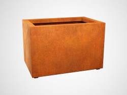 Donica metalowa - Corten LARGO 5 900x600x600