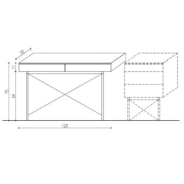 Biurko Basic Minko wymiary dla 120cm