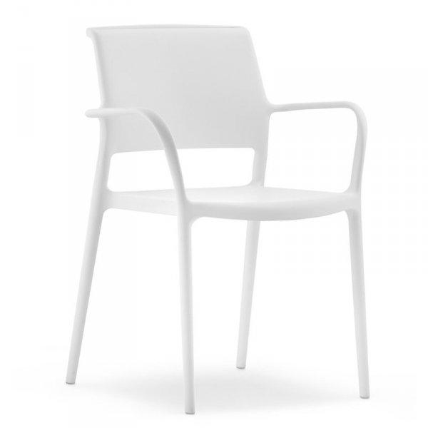 Piękne, minimalistyczne krzesło Pedrali Ara 315 białe