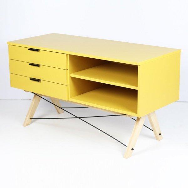 Stylowa szafka RTV do salonu czy sypialni w pięknym, skandynawskim stylu marki Minko