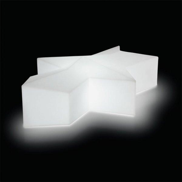 Glacé Out siedzisko zewnętrzne z wbudowanym oświetleniem Slide