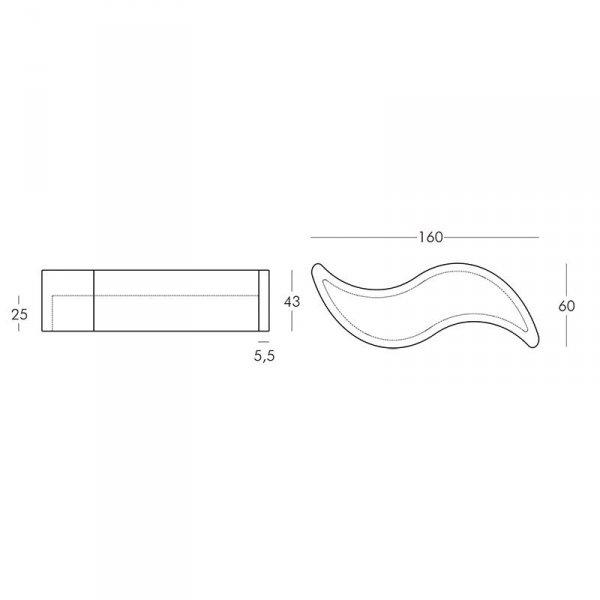 Ławka Wave 160x60x45 Slide