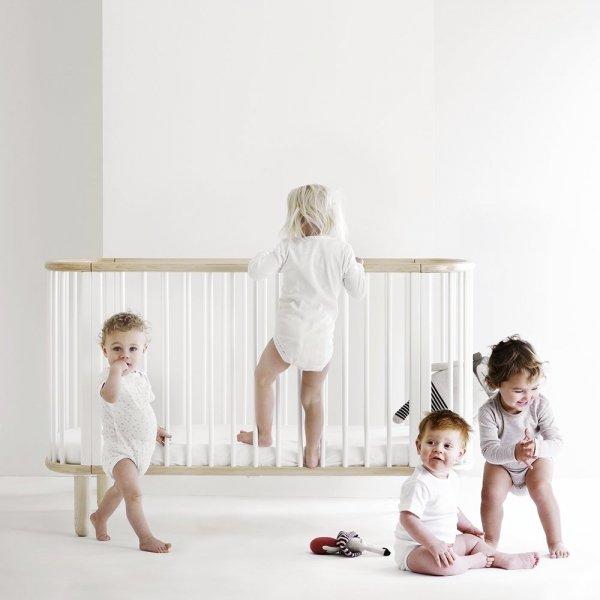 Łóżeczko dla dziecka Flexa Baby Bukowe