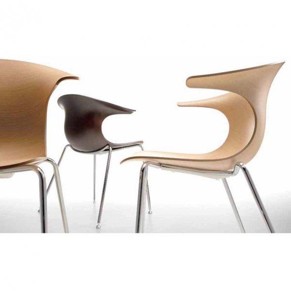 Krzesło drewniane Loop 3d sledge Infiniti