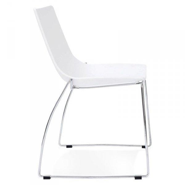 Minimalistyczne krzesło Tikada białe