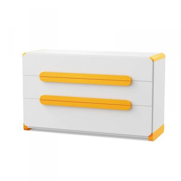 Komoda z 3 szufladami Kremowo-Pomarańczowa