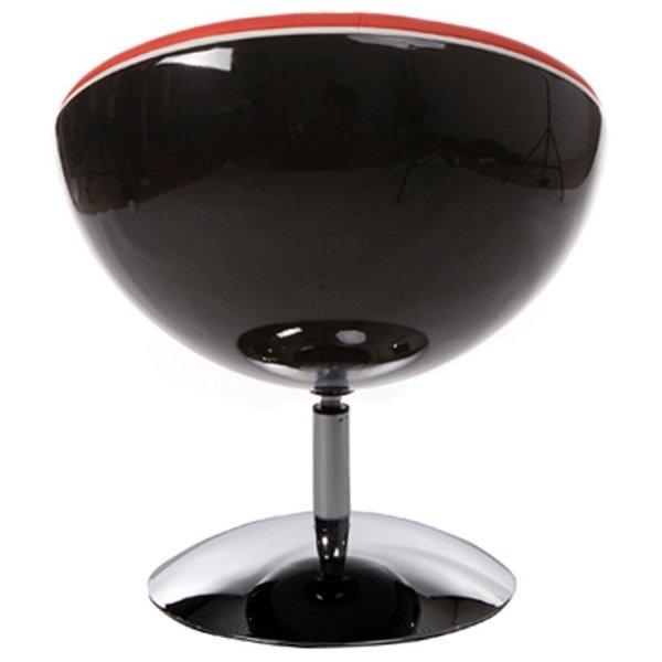 Sphere nowoczesny fotel czarno-czerwony