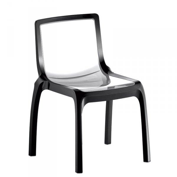 Designerskie krzesło o transparentnym siedzisku Miss You 610 Pedrali