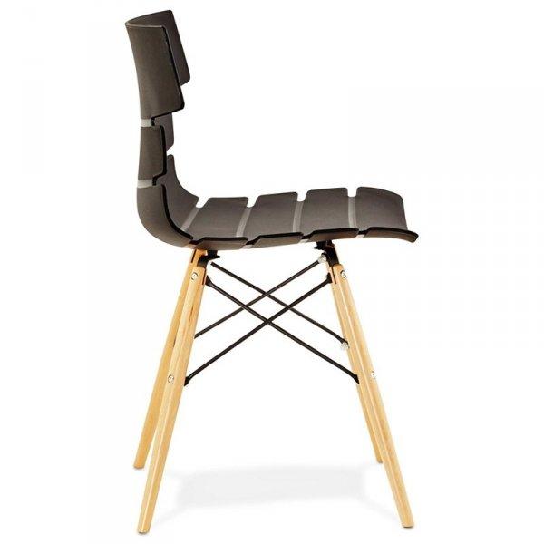 Strata nowoczesne krzesło czarne