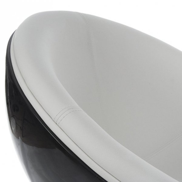 Sphere nowoczesny fotel czarno-biały