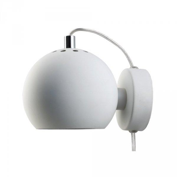 biały kinkiet ball wall frandsen