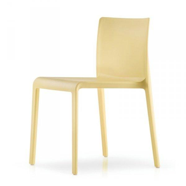 Stylowe krzesła do wnętrz i ogrodów Pedrali Volt 670 żółte