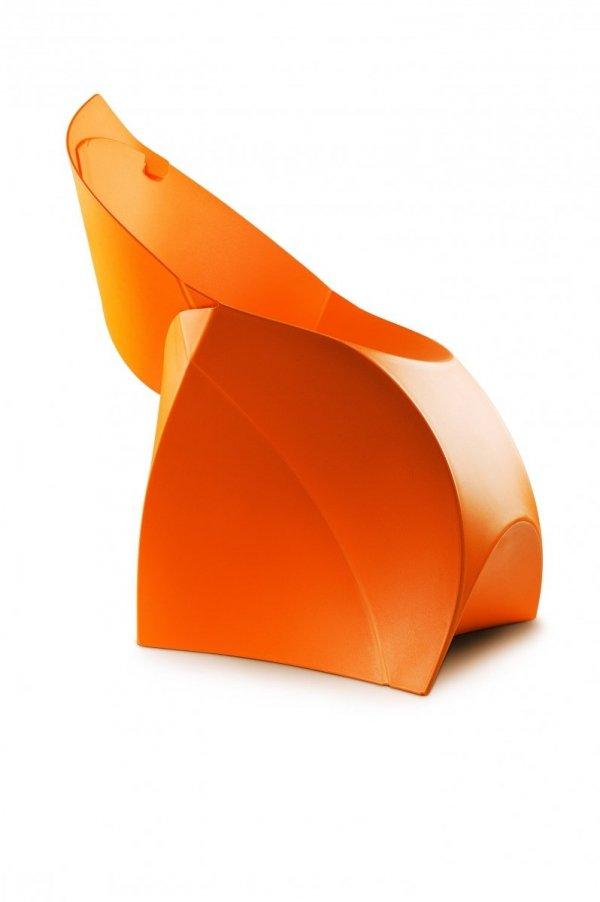 krzesło flux w kolorze pomarańczowym