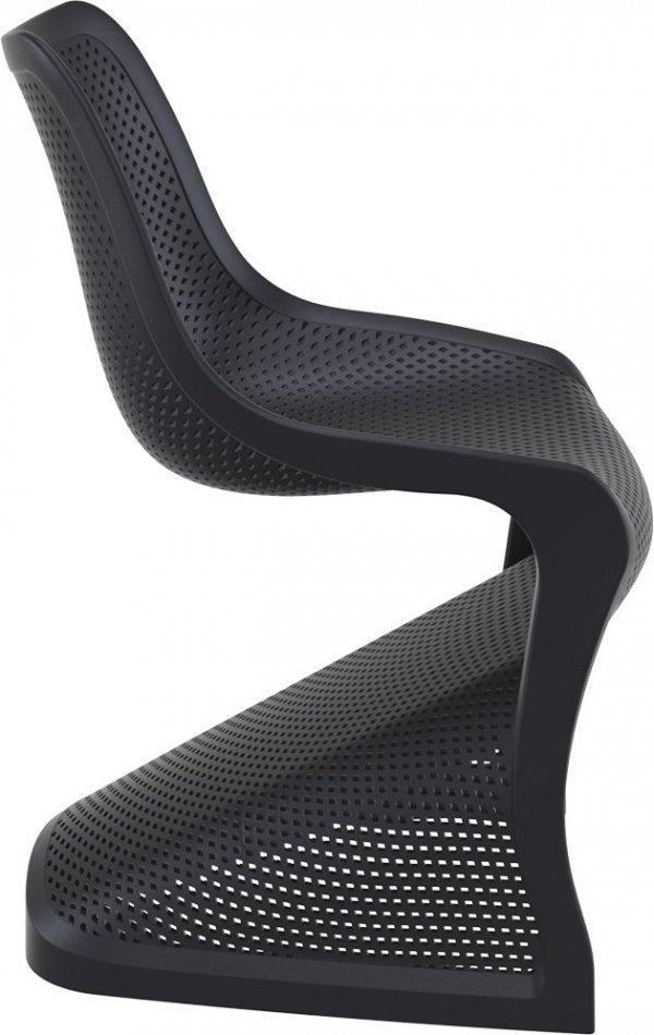 Krzesło Bloom Siesta z tworzywa czarne