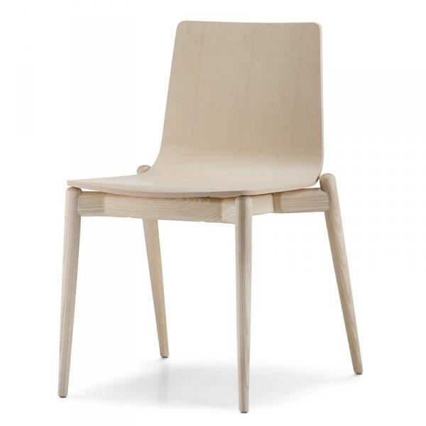 Malmo 390 drewniane krzesło w stylu skandynawskim Pedrali