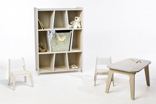 KuKuu Krzesełko Dziecięce S w kolorze mlecznym Bird&Berry