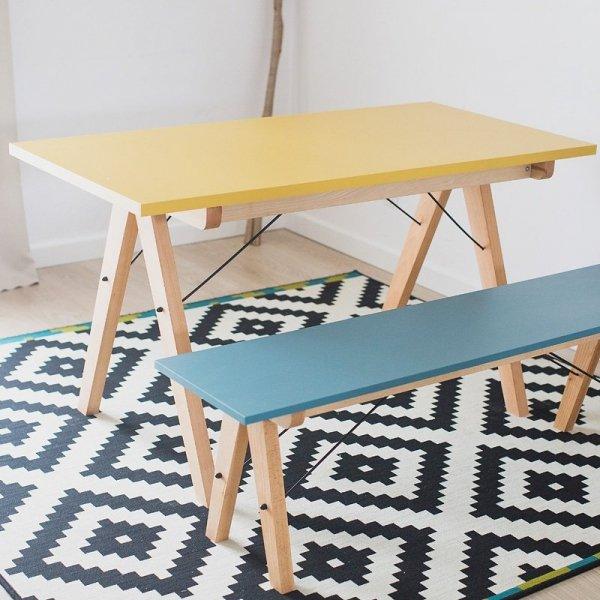 Designerska ławka do jadalni Minko Basic dostępna jest w wielu pięknych kolorach
