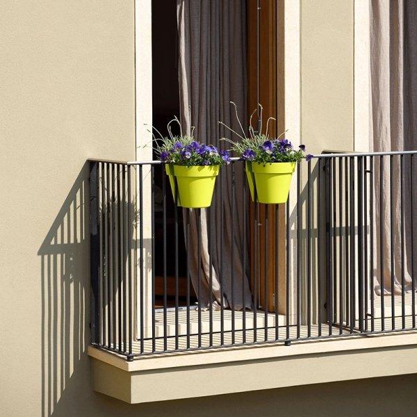Stylowe doniczki balkonowe BE-UP ze zbiornikiem na wodę