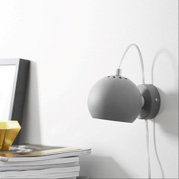 lampa ścienna Ball Wall znakomicie sprawdza się jako lampa nocna