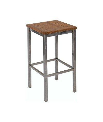 Industrialny stołek Barowy Indus drewno i metal