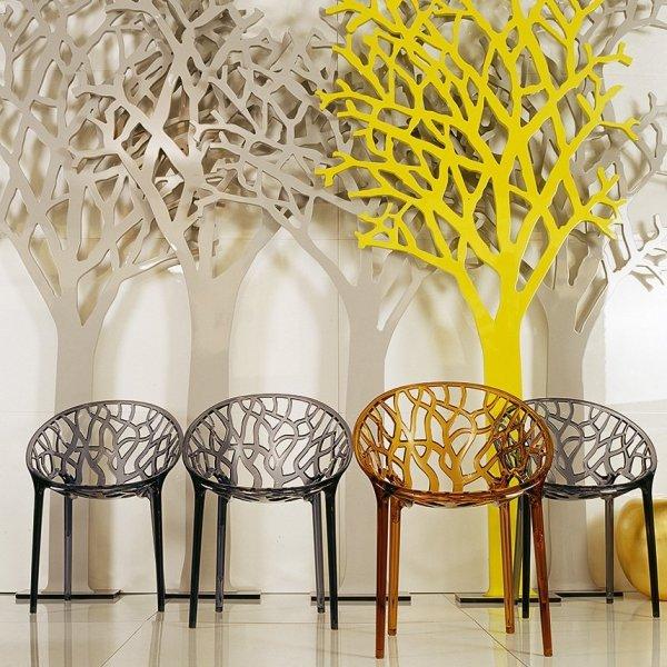 Krzesła są bardzo wytrzymałe, odporne na zarysowania oraz promienie UV. Krzesła można sztaplować.
