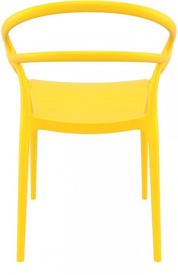 Krzesło Mila Siesta ciemny szary żółty