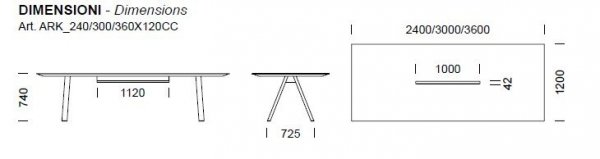 Arki Stół ze Schowkiem na Kable Pedrali