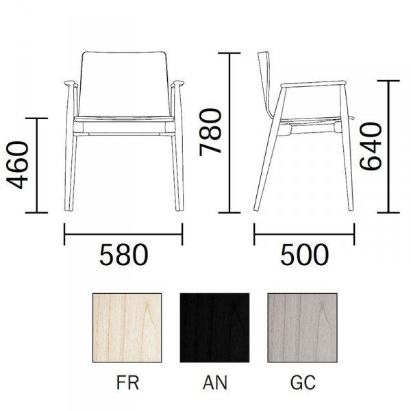 Krzesło drewniane tapicerowane skórą wymiary