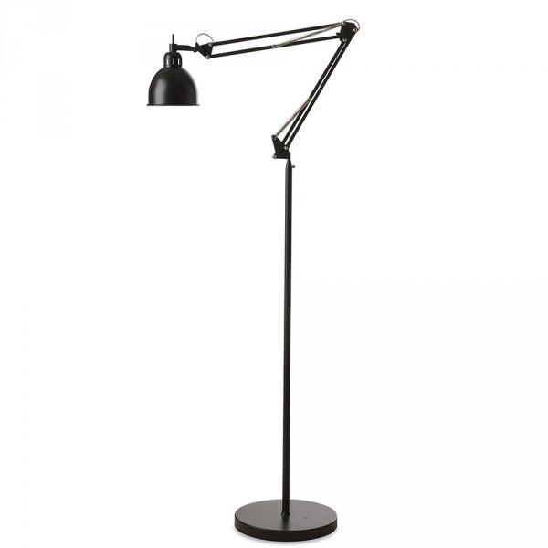 Industrialna lampa podłogowa idealna do salonu, gabinetu, pokoju nastolatka.