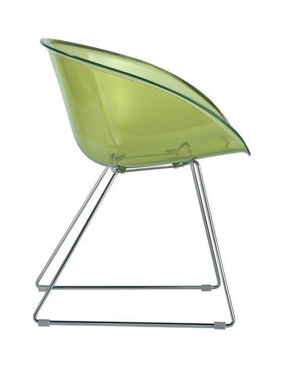 Gliss 921 Krzesło Pedrali zielone