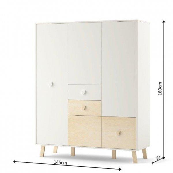 Pojemna , funkcjonalna i bardzo nowoczesna szafa 3 drzwiowa MAGI