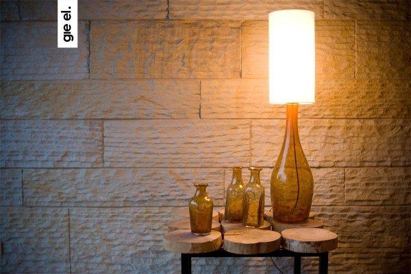 Lampa Stołowa szklana miodowa LGH0170 Gie El