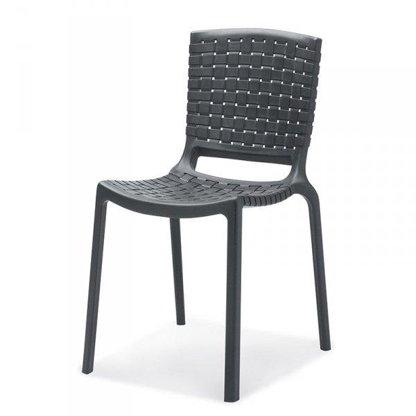 Nowoczesne krzesło Tatami 305 w kolorze grafitowym