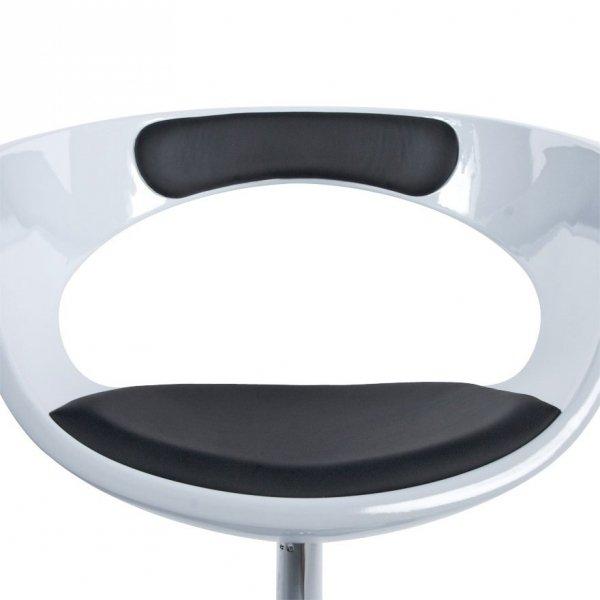 Fotel obrotowy Kirk Biało-Czarny