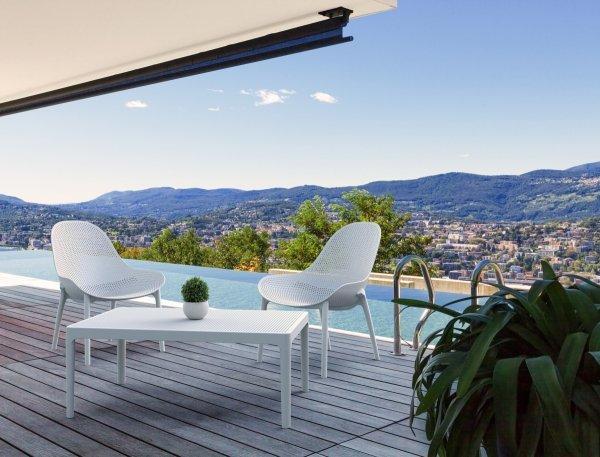 piękny zestaw Sky Lounge stolik i fotele