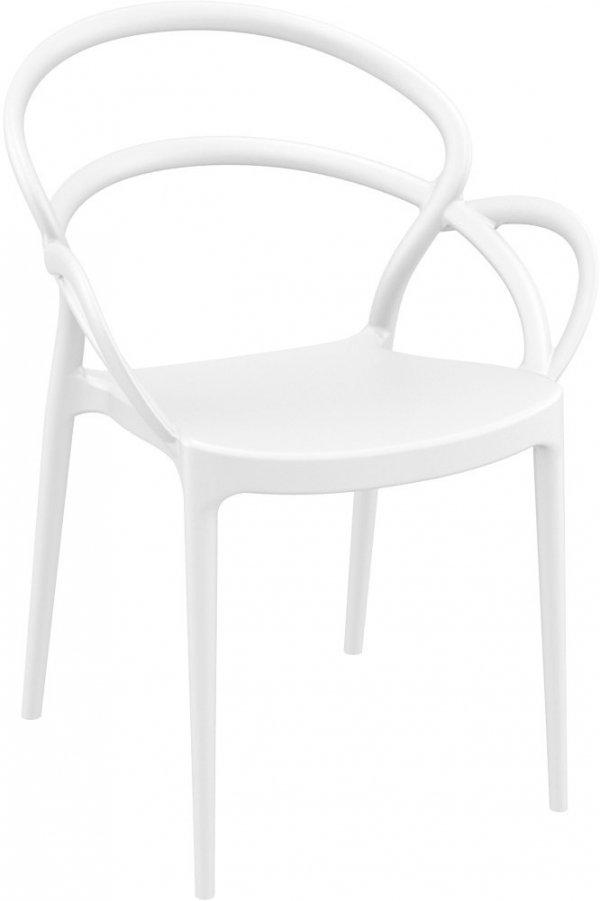 Krzesło Mila Siesta ciemny szary białe
