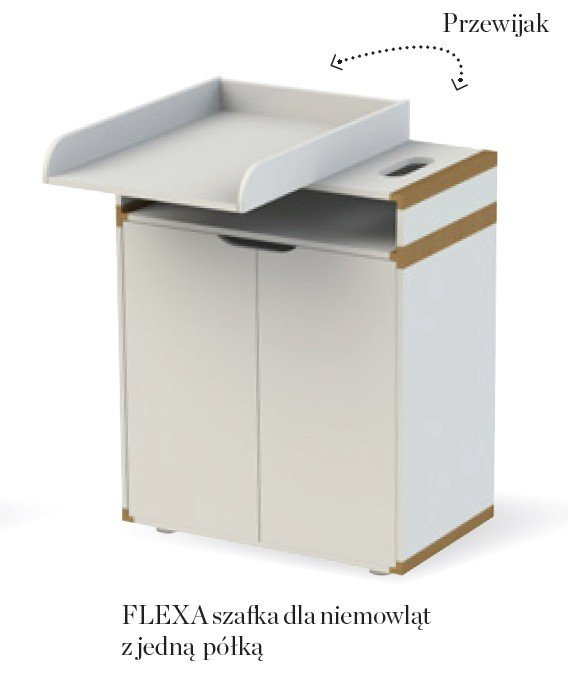 Szafka z 1 półką Flexa White