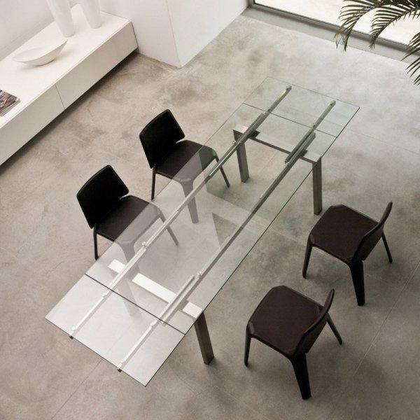 Krzesła tapicerowane skórą do kuchni i jadalni Pedrali Mood 720