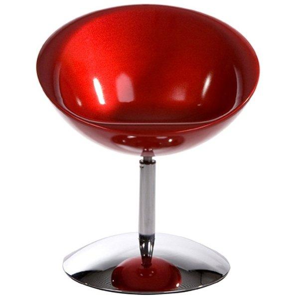 Nowoczesny fotel Bowl czerwony