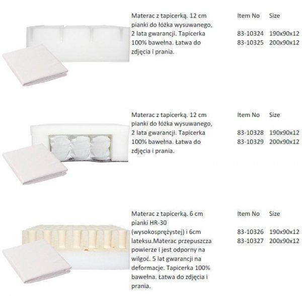 Łóżko dziecięce wysokie ze zjeżdżalnią Flexa White