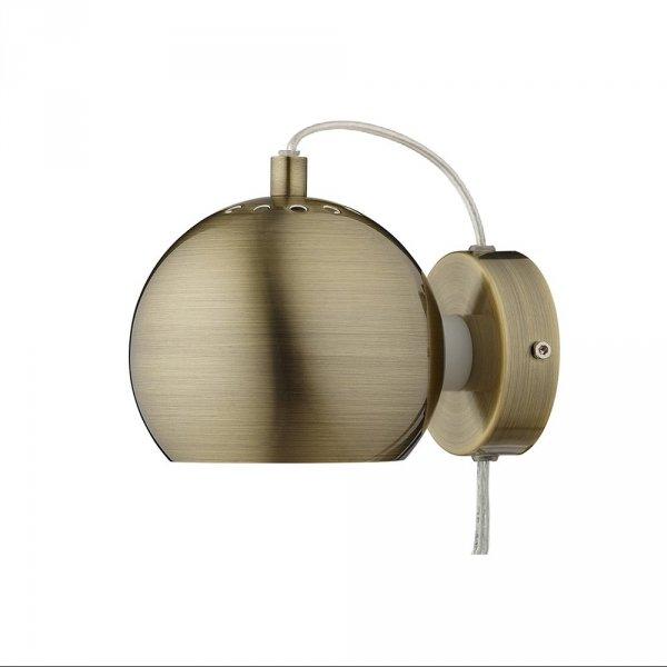 Kinkiet ścienny w kształcie kuli Ball Wall antyczny mosiądz